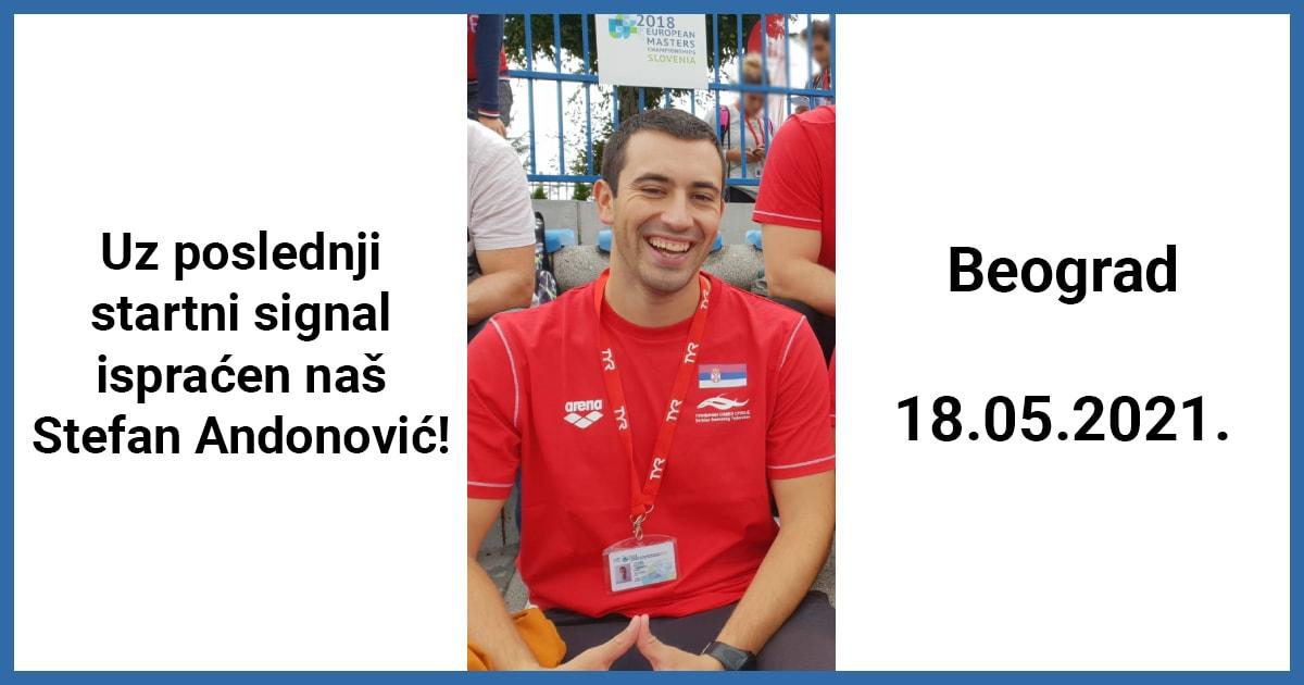Uz poslednji startni signal ispraćen naš Stefan Andonović