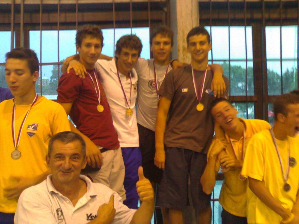 2007, Kadetski rekorderi, 4x100 slobodno: Dušan Jocić, Stefan Andonović, Filip Kostić i Aleksandar Stevanović